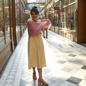 #7 Barbara Shawl, designed by Alice Hammer