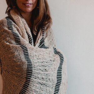 #14 Samon, sand ripples shawl, designed by Eri