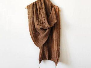 DYYNI a warm long shawl in Dry desert Camel by Sari