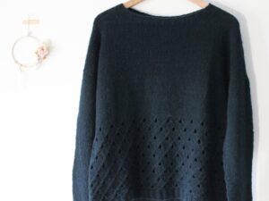 Huiten a lifestyle sweater in High Mountain Yak by Lilofil
