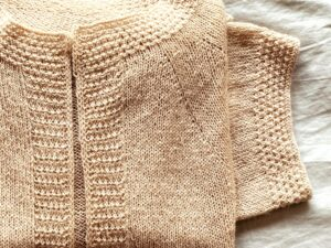 TIMILAI  a soft, light and versatile cardigan  in Dry Desert Camel by Kouvive
